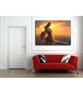 wonder woman canvas frames